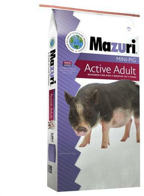 Mazuri Mini Pig Active Adult Food, 25 Lb.