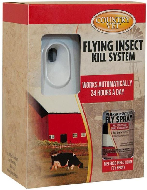 Country Vet Equine Mosquito & Fly Control Dispenser Kit
