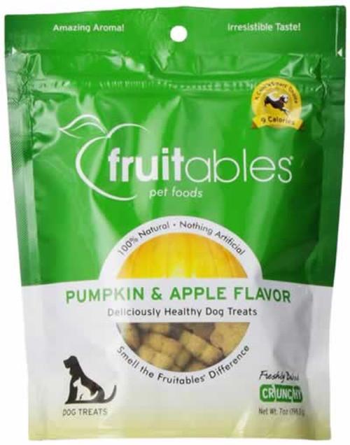 Fruitables Pumpkin & Apple Crunchy Baked Dog Treats 7 Ounces