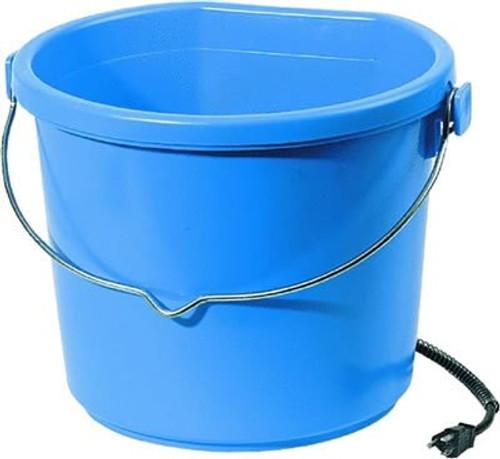 Heated Flat Back 5 Gallon Blue Water Bucket