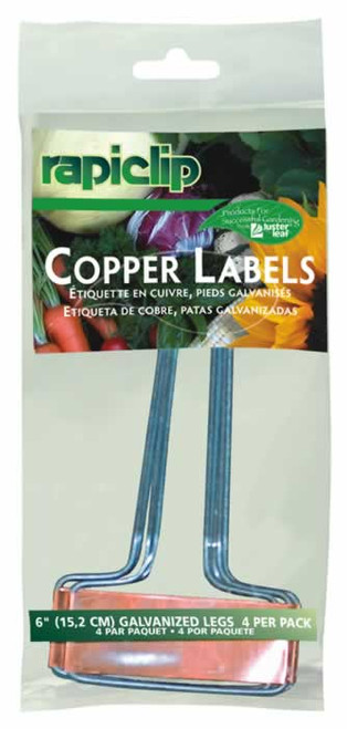 Luster Leaf 4 Copper Labels, 6