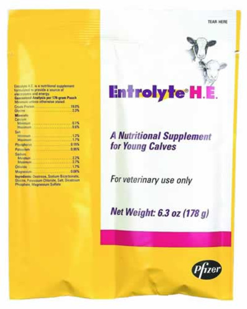Pfizer Entrolyte Electrolyte H.E. Packets, 178 Grams