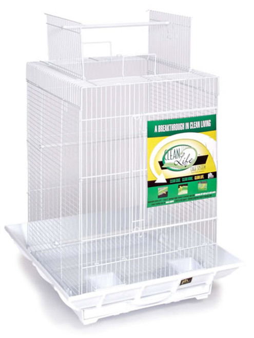 Prevue Clean Life Cage With A Play Top, 18x18x24 Inch