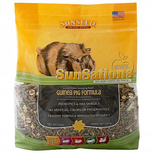 Sunatural Sunsations Guinea Pig Food, 3.5 Pounds
