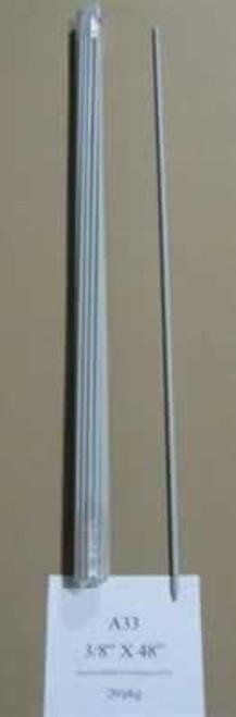 "Sunguard Fiberglass Rod Post, 3/8"" x 4"