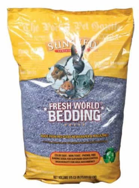 SunSeed Fresh World Small Animal Bedding Grey
