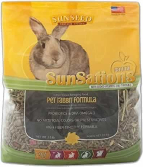 SunSeed SunSations Natural Rabbit Food, 3 Lb.