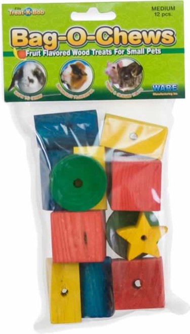 Ware Bag-O-Chews Small Animal Wood Chew Toys