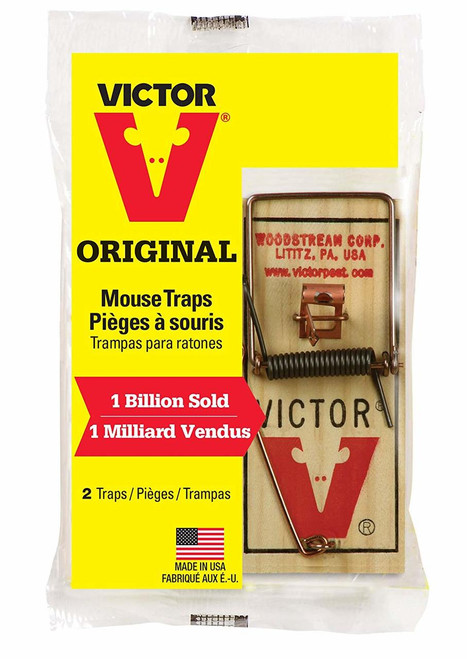 Woodstream Victor Mouse Traps, 2 Pack