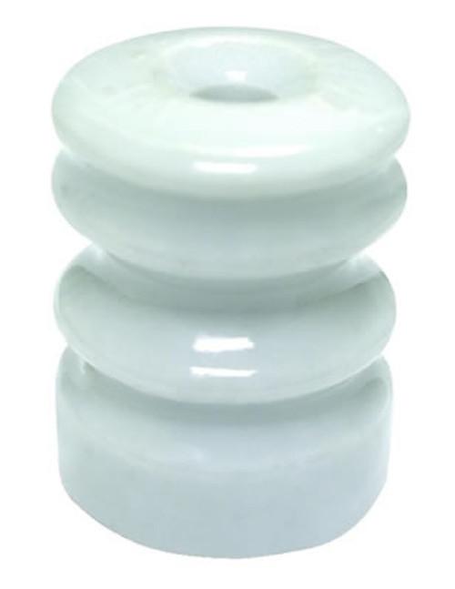 Zareba Multiple Grove Ceramic Insulator  Washer, 10 Pack, White