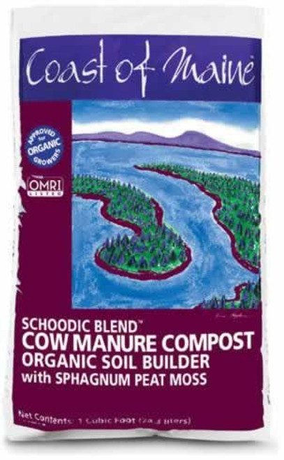 Coast of Maine Schoodic Blend Cow Manure Compost 1 Cubic Foot