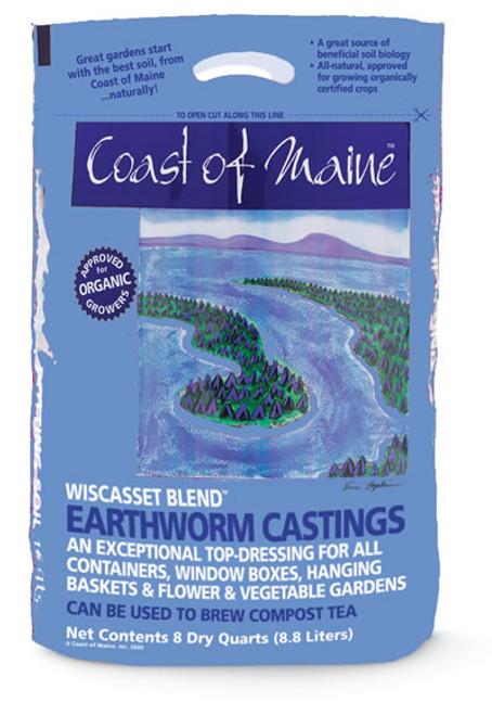Coast Of Maine Wiscasset Blend Earthworm Castings, 8 Qt