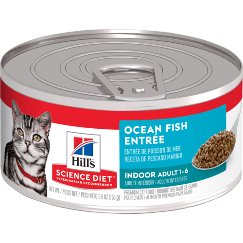 Hill's Science Diet Indoor Ocean Fish Entree Canned Cat Food, 5.5 Oz.