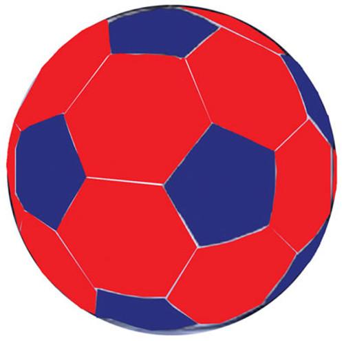 Jolly Mega Ball Soccer Ball Cover, 40 In., Blue/Red