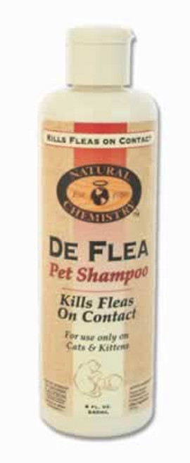 Natural Chemistry De Flea Shampoo For Cats, 8 Ounce