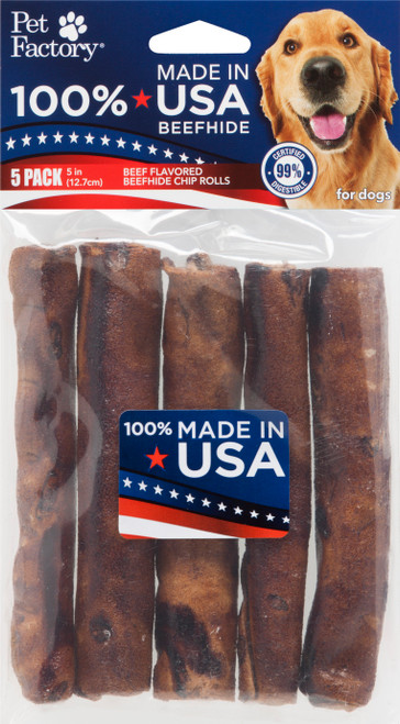 Pet Factory USA Beef Chip Rolls 5 Pack