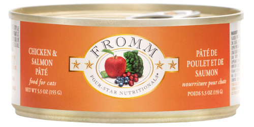 Fromm Four Star Chicken and Salmon Pate Canned Cat Food 5.5 Oz