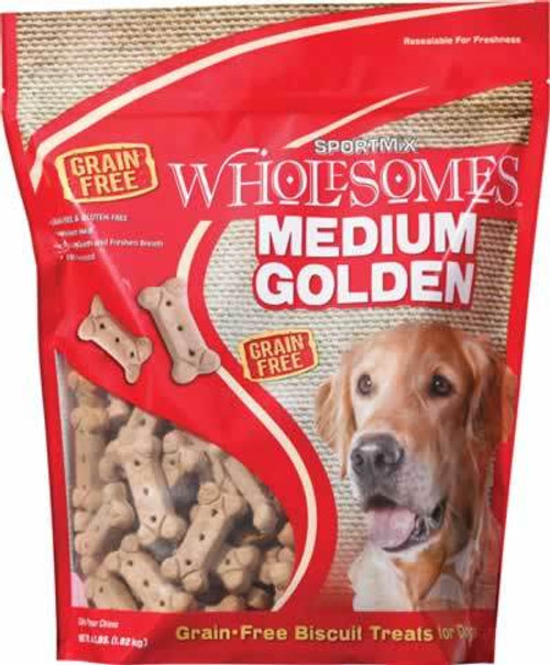 SportMix Golden Medium Dog Biscuits, 4 Pound Bag