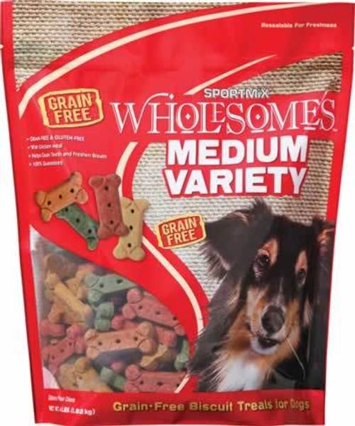 SportMix Variety Medium Dog Biscuits, 4 Pound Bag