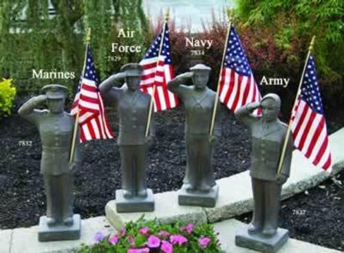 "Massarelli United States Armed Forces 27"" Statue"