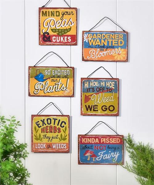 Garden Puns Wall Signs