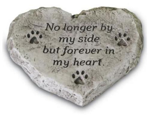 "Massarelli Memorial Pet Stone ""No longer by my Side"""