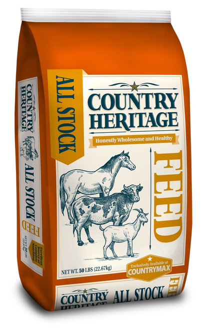Country Heritage All-Stock 12% Pelleted Feed, 50#