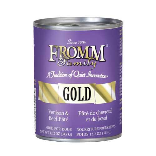 Fromm Gold Venison & Beef Pâté  Dog Food 12.2 Oz Can