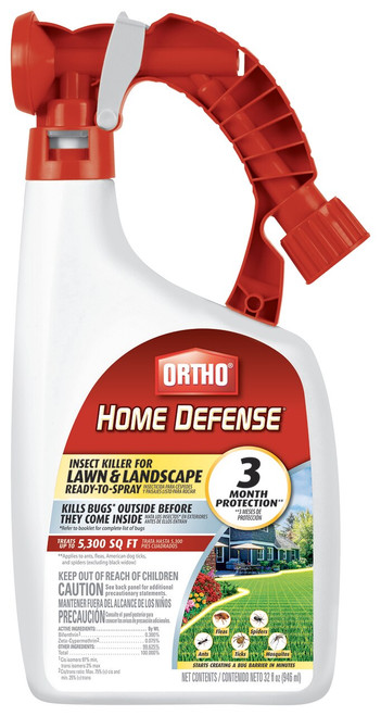 Ortho Home Defense Insect Killer, Lawn & Landscape Ready-To-Spray, 32oz