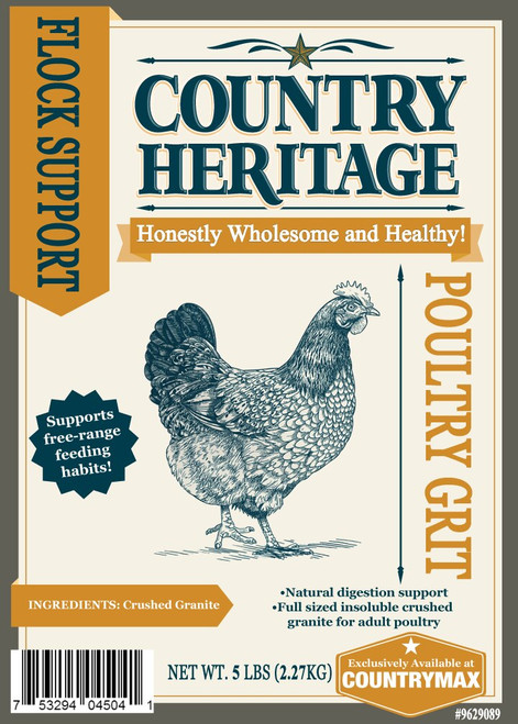 Country Heritage Poultry Grit, 5# Bag