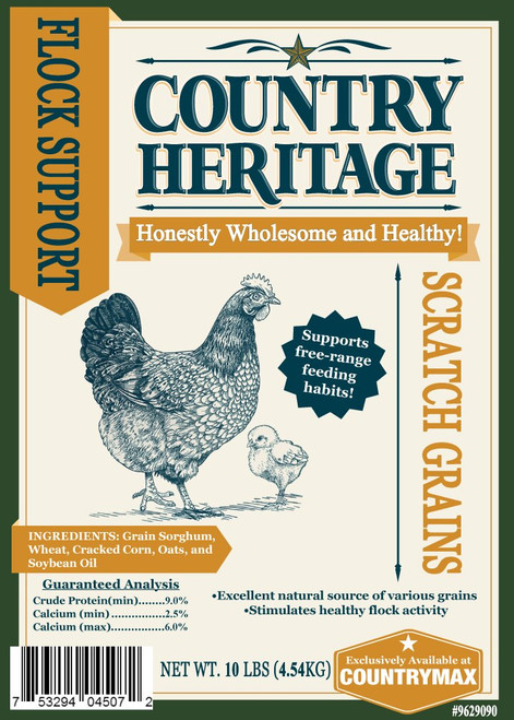 Country Heritage Scratch Grains, 10# Bag