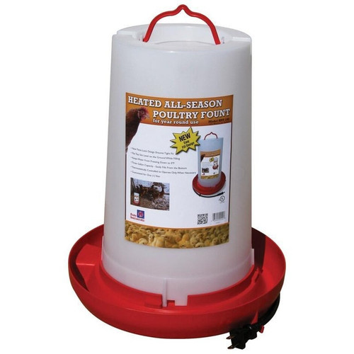 Farm Innovators Heated All Season Poulty Waterer, 3 Gallon