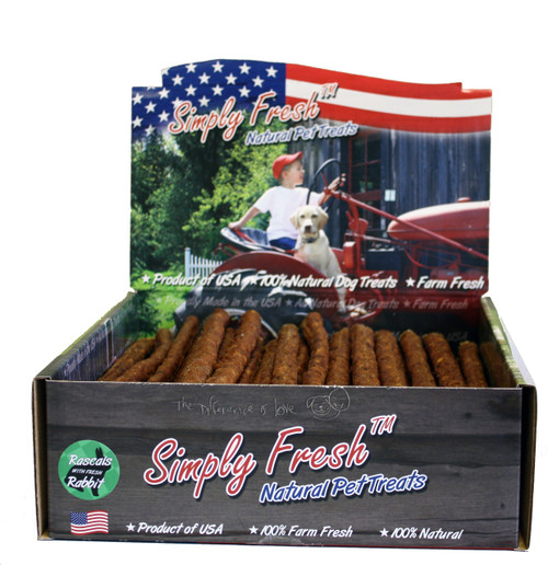 """Simply Fresh Rascals Natural Rawhide with Rabbit, 12"""""""