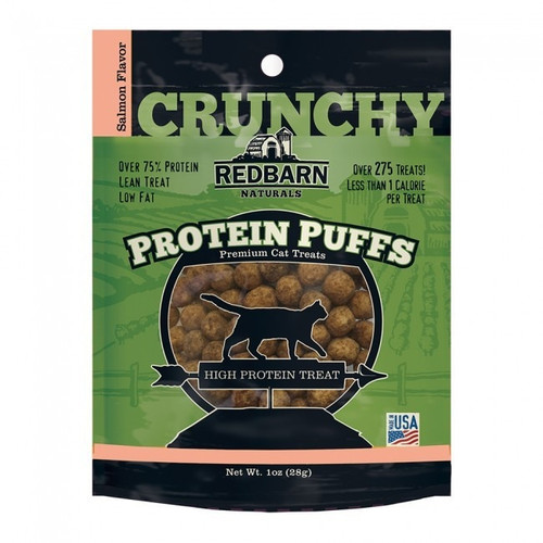 RedBarn Crunchy Protein Puffs Cat Treats, 1 ounce package