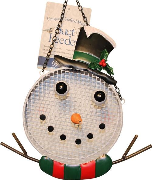 Songbird Essentials Snowman Mesh Bird Feeder