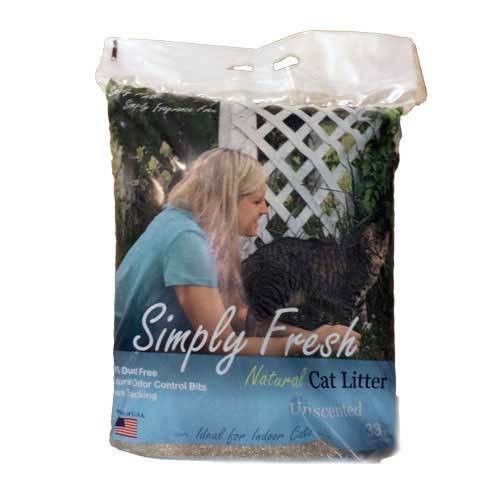 Simply Fresh Natural Clumping Cat Litter, Unscented