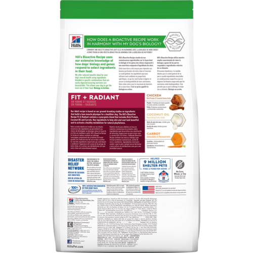 Hill's Bioactive Recipe Adult Large Breed Fit + Radiant Dog Food 22.5lbs