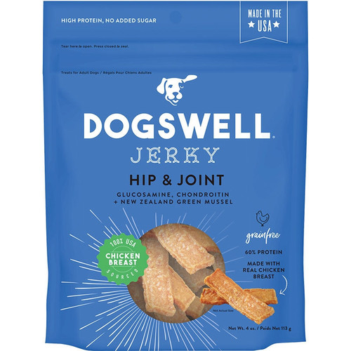 Dogswell Dog Hip & Joint Grain Free Chicken Jerky 4oz