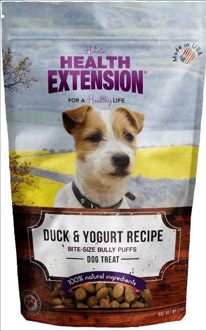 Health Extension Bully Puffs Duck & Yogurt Grain Free Dog Treats 5oz