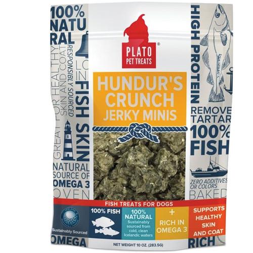 Plato Natural Hunders Crunch Mini Dog Treats 10oz Bag