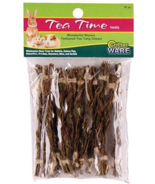 Critter Ware Tea Time Twist Small Animal Wholesome Chew 12 Count Pack