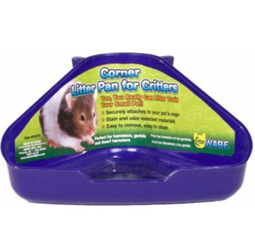 Critter Ware Corner Litter Pan For Critters