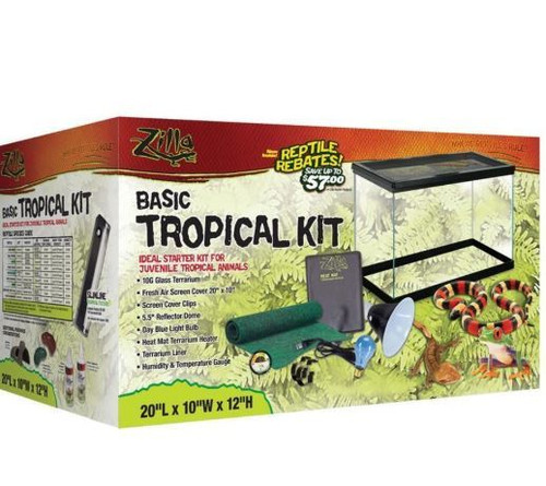 Zilla Basic Tropical Starter Kit 10 Gallon Tank