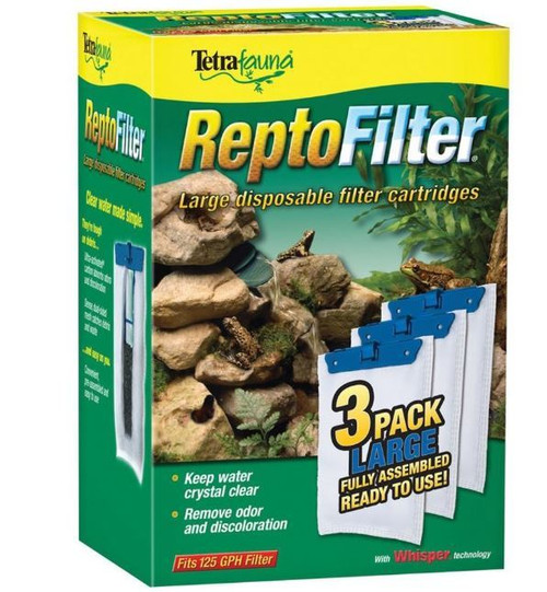 Tetrafauna ReptoFilter Large Cartridges Replacements 3 Pack