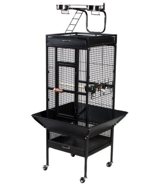 Prevue Pet Products Signature Select Series Black Wrought Iron Bird Cage