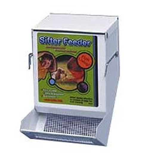 """Ware White Sifter Feeder With Lid, 5"""""""