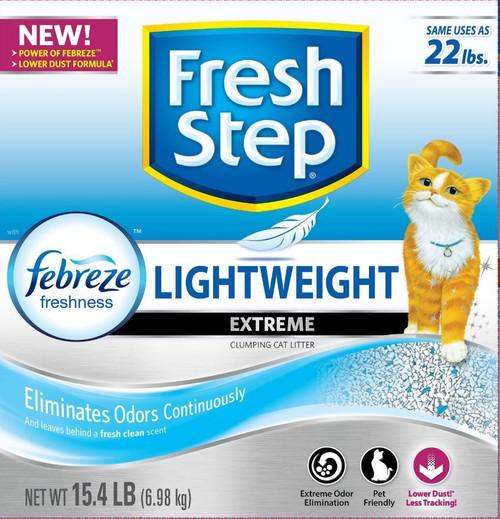 Fresh Step Lightweight Extreme Cat Litter 15.4Lb Box