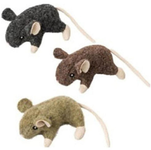 Ethical Pet Wool Mouse Willie With Catnip Cat Toy