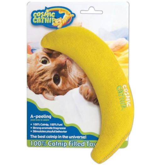 OurPets Cosmic Catnip A-Peeling Catnip Filled Banana Cat Toy