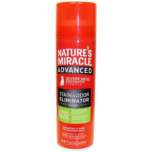 Nature's Miracle Advanced Cats Stain & Odor Foam Aerosol Spray 17.5oz